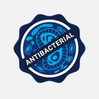 Antibacterieel logo-ontwerp