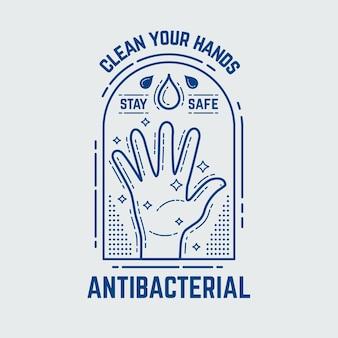 Antibacterieel logo sjabloonontwerp