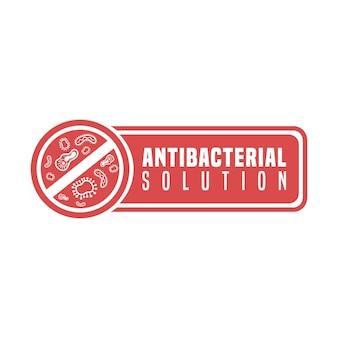 Antibacteriële formule-oplossing stopt de bacteriën