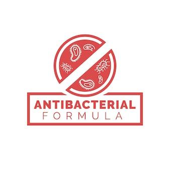 Antibacteriële formule-oplossing stopt het virus