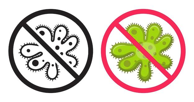 Antibacteriële icoon.