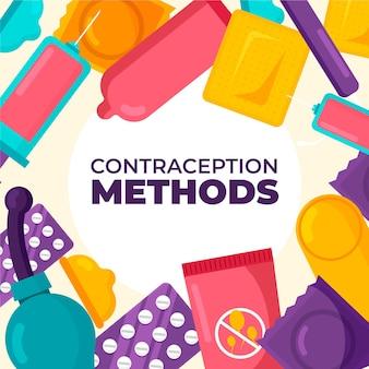 Anticonceptie methoden illustratie