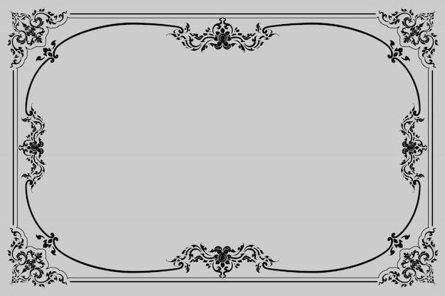 Antiek decoratief frame