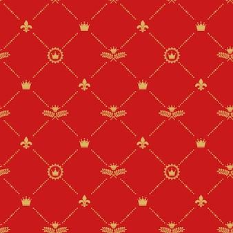 Antiek koninklijk naadloos patroon.