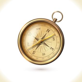 Antiek messing kompas