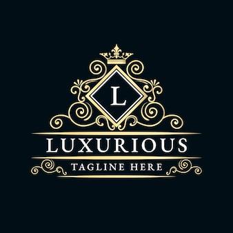 Antiek retro luxe victoriaans kalligrafisch logo met sierlijst geschikt voor kapper wijn carft bierwinkel spa salon boetiek antiek restaurant hotel resort klassiek koninklijk merk