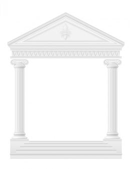 Antieke boog voorraad vectorillustratie
