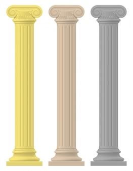 Antieke kolom voorraad vectorillustratie