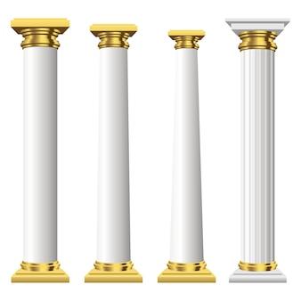 Antieke kolommen geïsoleerd