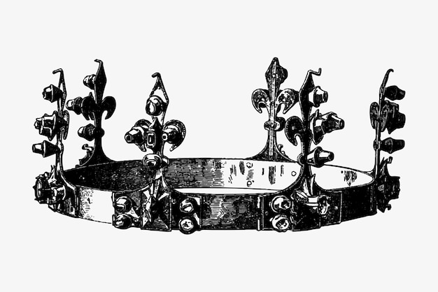 Antieke koninklijke kroon