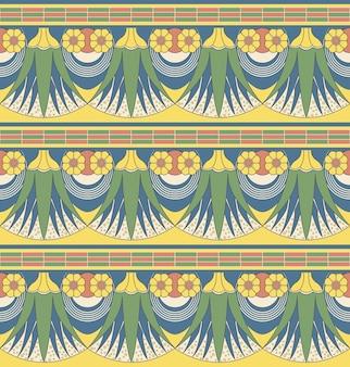 Antieke naadloze patroon van vintage natuur bloementuin