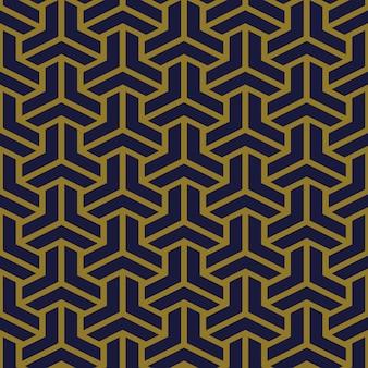 Antieke naadloze patroon veelhoek 3d-driehoek kruis