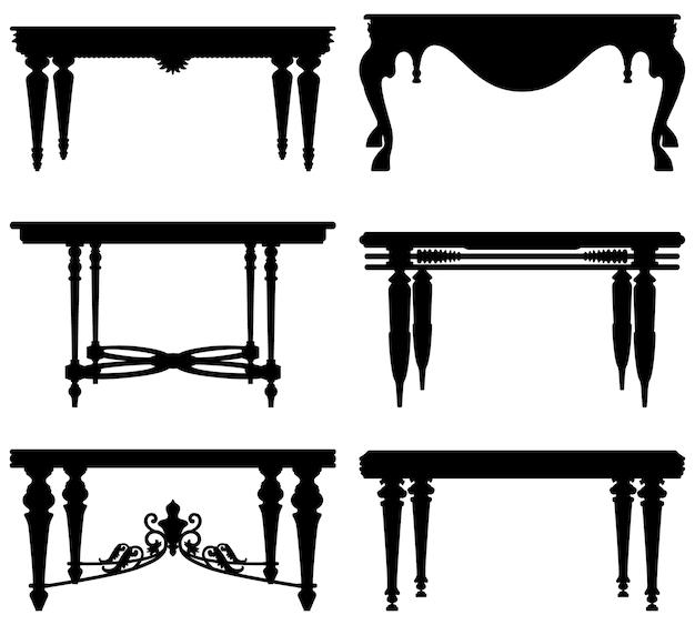 Antieke oude klassieke tafel.