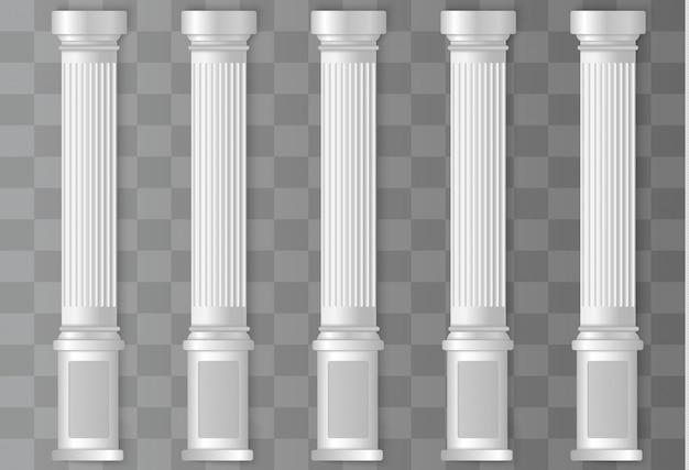 Antieke witte kolommen