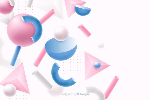 Antigravity geometrische vormen met 3d effect