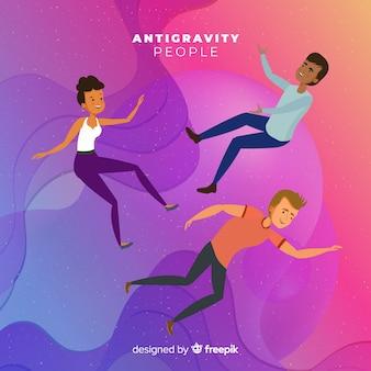Antigravity mensen achtergrond