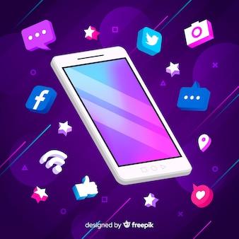 Antigravity mobiele telefoon met elementen
