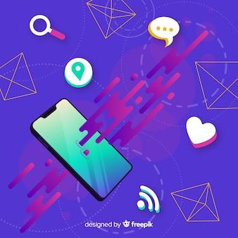 Antigravity mobiele telefoon met items