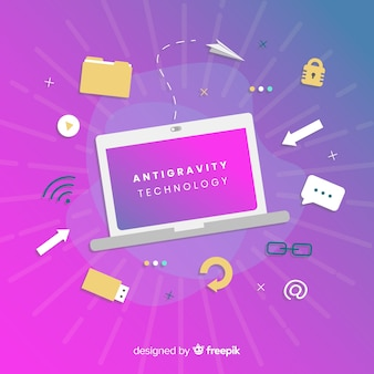 Antigravity-technologie met elementen