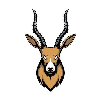 Antilope hoofd vector ontwerp