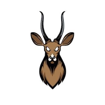 Antilope hoofd