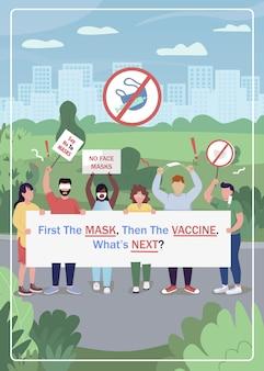 Antivaccinatiebeweging. activisten protesteren tijdens covid.