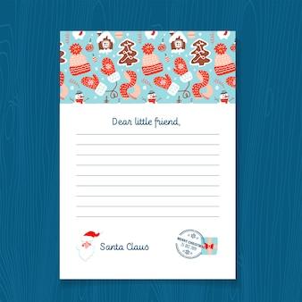 Antwoordbrief van santa claus-sjabloon.