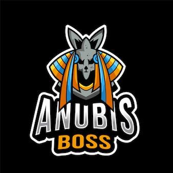 Anubis boss esport logo sjabloon
