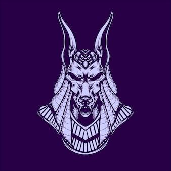 Anubis de mythologie van egypte