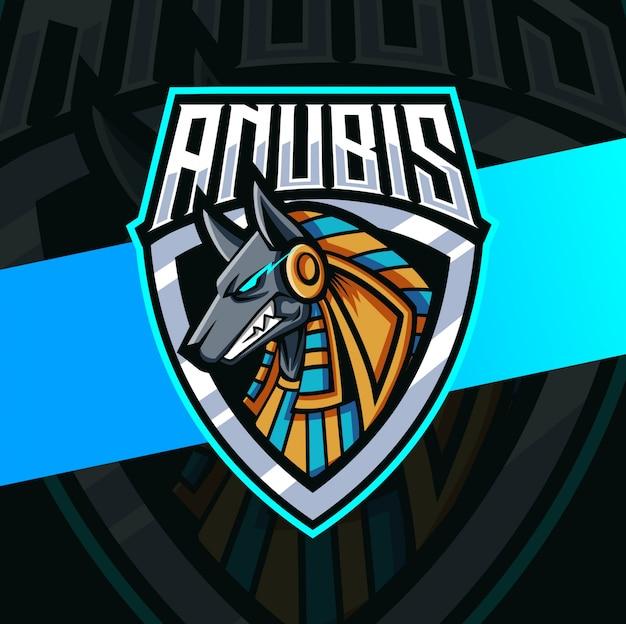 Anubis egypte god mascotte esport logo