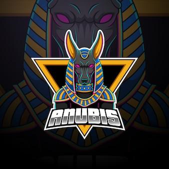 Anubis esport mascotte logo ontwerp