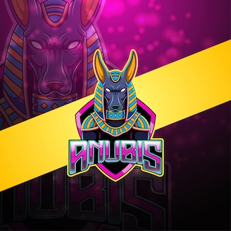 Anubis esport mascotte logo