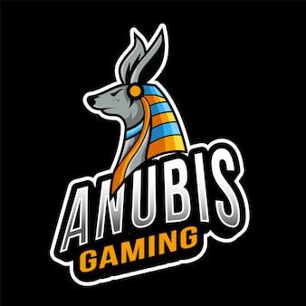 Anubis gaming esport logo sjabloon