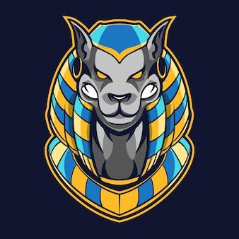 Anubis hond hoofd afbeelding ontwerp