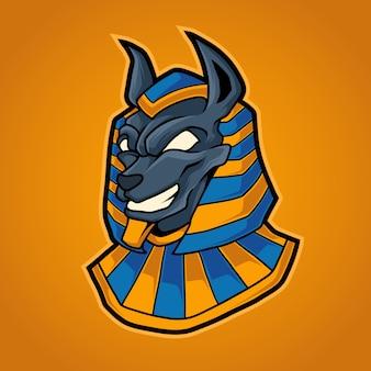 Anubis hoofd illustratie