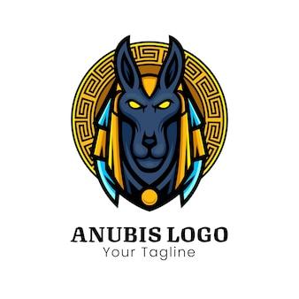 Anubis hoofd vector illustratie ontwerp