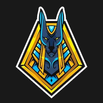 Anubis hoofd vectorillustratie