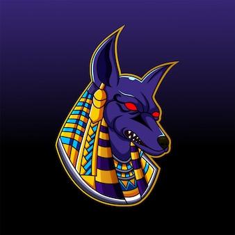 Anubis hoofdmascotte