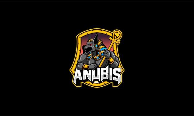 Anubis houdt embleem van het personeel vast