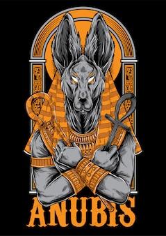 Anubis illustratie mascotte ontwerp