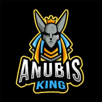 Anubis king esport logo sjabloon