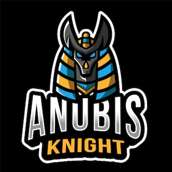Anubis knight esport logo sjabloon