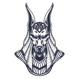 Anubis lijn kunst illustratie