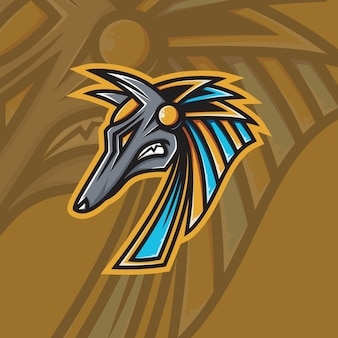 Anubis mascot esport-logo