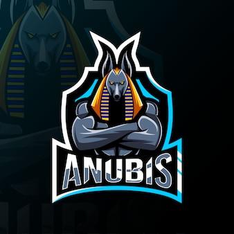 Anubis mascotte logo esport