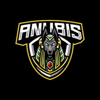 Anubis mascotte logo ontwerp