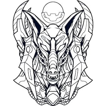 Anubis mecha silhouet