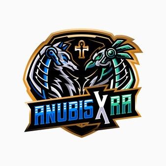 Anubis ra mascotte illustratie