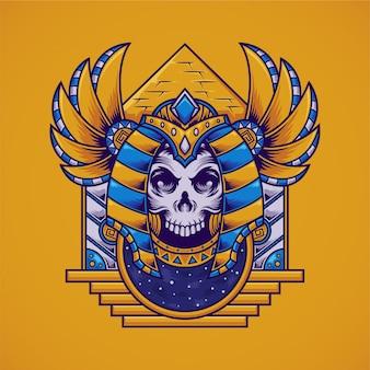 Anubis schedel illustratie