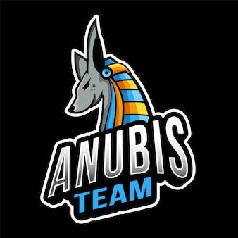 Anubis team esport logo sjabloon